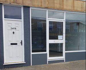 P J Plastics Limited empty showroom after liquidation but The Window Wizard Bexleyheath can repair P J Plastics UPVC