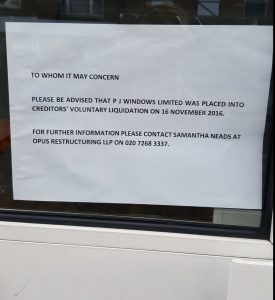 P J Plastics note to say nolonger trading but The Window Wizard Bexleyheath can repair your windows