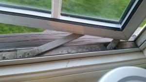 Older style double glazed window hinges non friction hinges