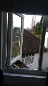 Fire Escape Window Hinges fitted to upvc window
