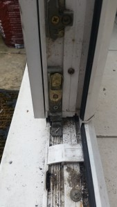 Leaks and Block Drain Hole in UPVC French Door Double Glazed Frame