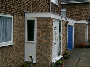 UPVC Door panels withcat flap fitted in patio Bexley