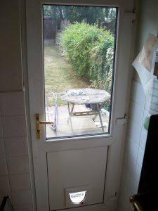 Cat Flap UPVC door panels Double Glazed Back door Bexleyheath, Erith, Swanley, Dartford