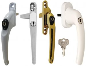 Window handle for double glazed window UPVC locking window handles Bexley