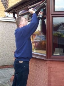 Top Hung Opening UPVC Double Glazed Window not a tilt and turn windows