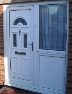 UPVC Front Door double glazed half door panel
